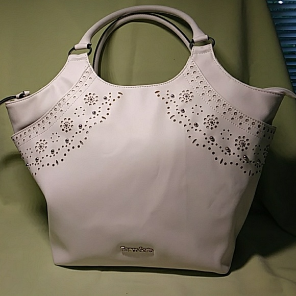 Handbags - Franco Sarto White Bag Silver Studs